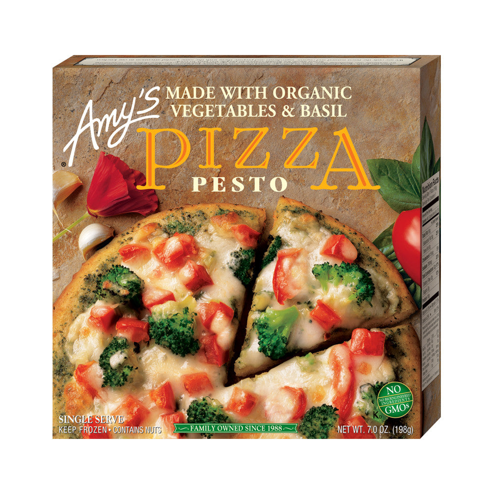 Amy's Kitchen Single Serve Pesto Pizza, 7 Oz (Pack of 12)