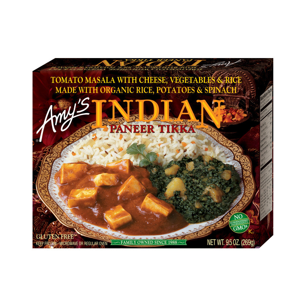 Amy's Kitchen Indian Paneer Tikka, 9.5 Oz (Pack of 12)