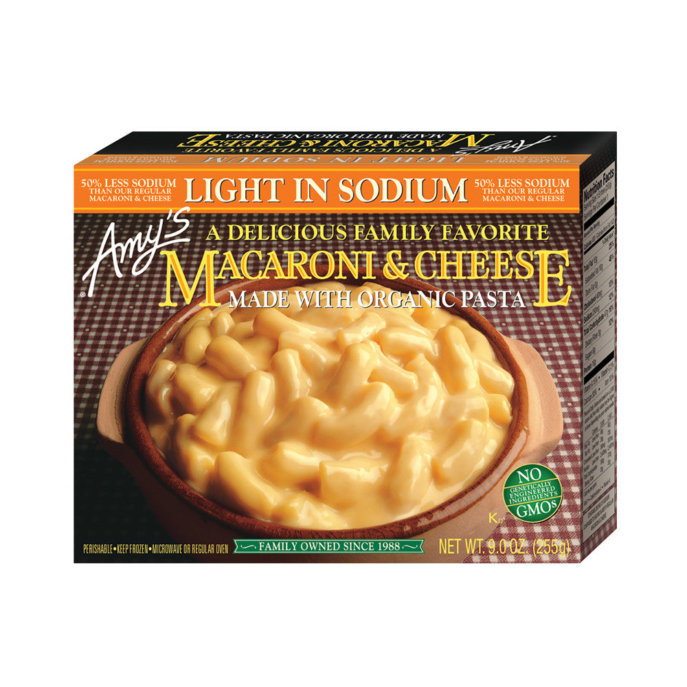 Amy's Kitchen Light in Sodium - Macaroni & Cheese, 9 Oz (Pack of 12)