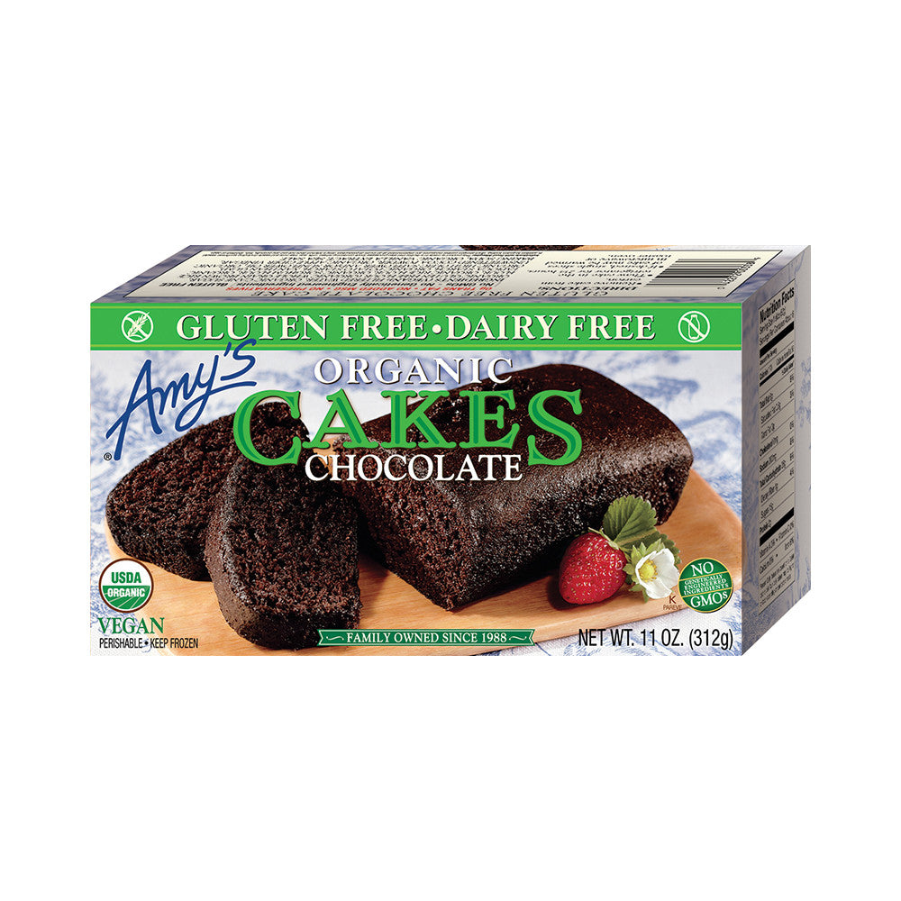 Amy's Kitchen Gluten Free Chocolate Cake, 11 Oz (Pack of 12)