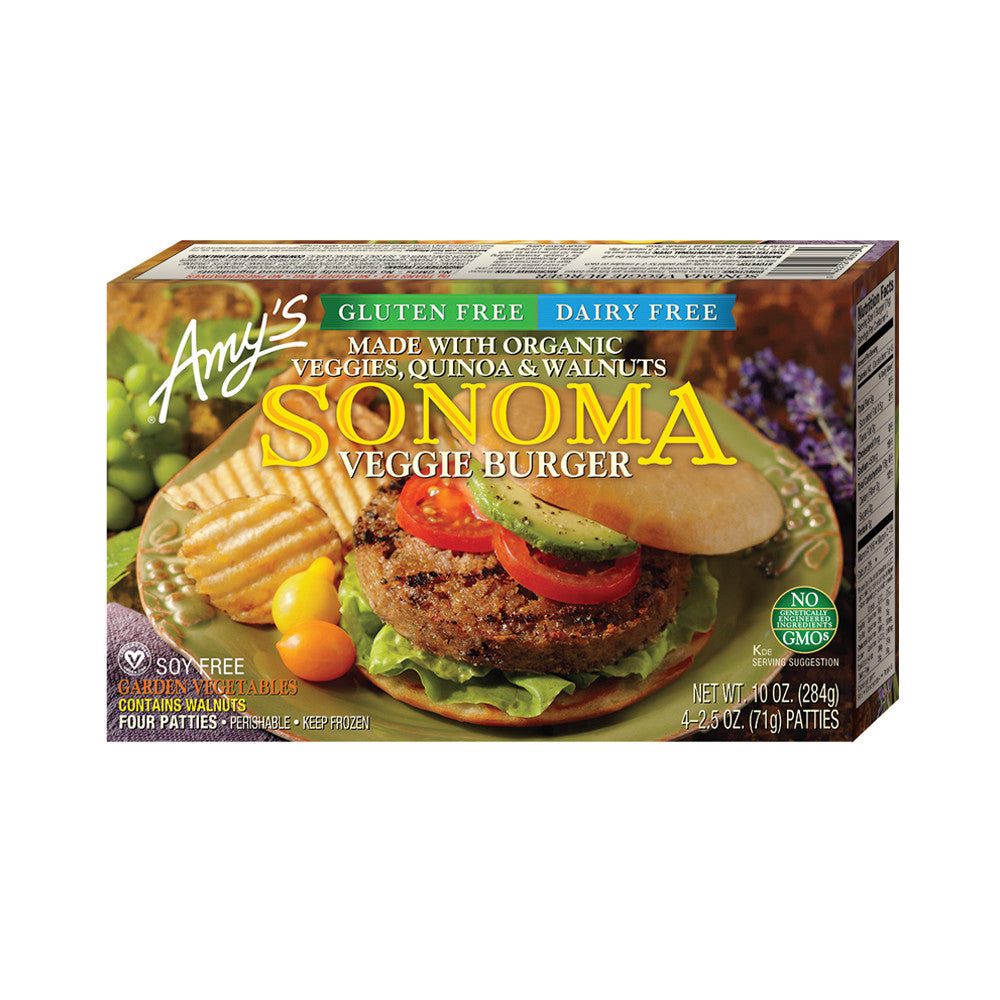 Amy's Kitchen Sonoma Veggie Burger, 10 Oz (Pack of 12)