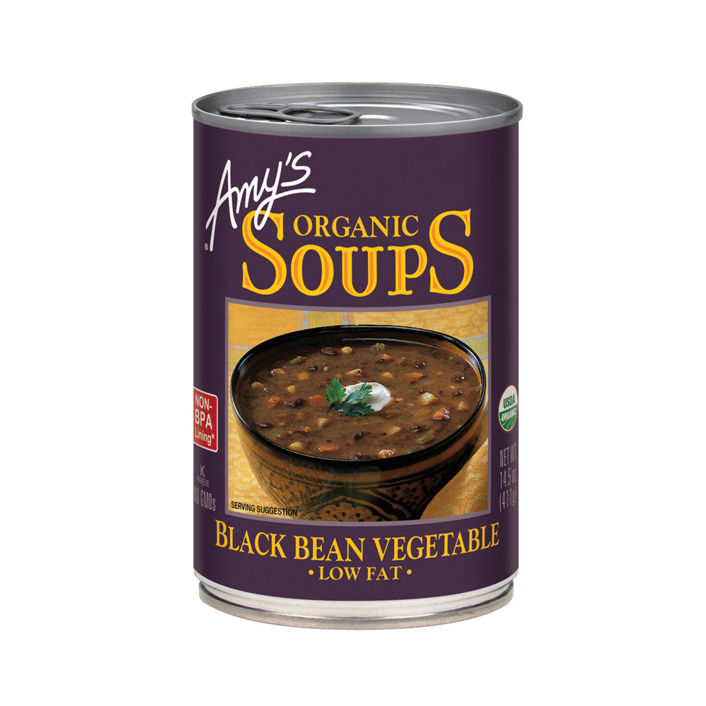 Amy's Kitchen Organic Black Bean Vegetable Soup, 14.5 Oz (Pack of 06)
