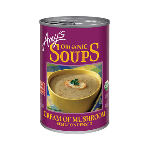 Amy's Kitchen Organic Cream of Mushroom Soup, 14.1 Oz (Pack of 06)