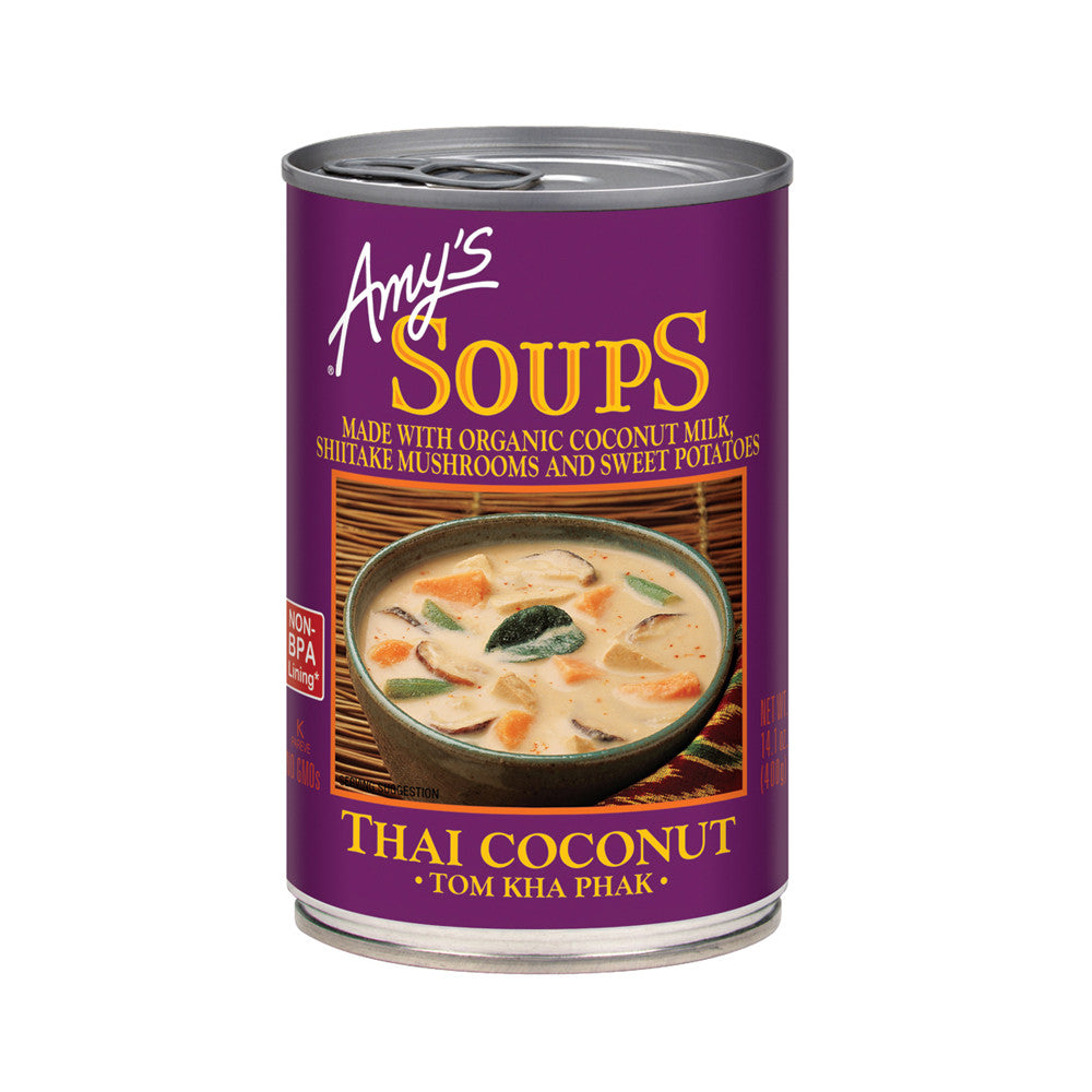 Amy's Kitchen Thai Coconut Soup (Tom Kha Phak), 14.1 Oz (Pack of 12)