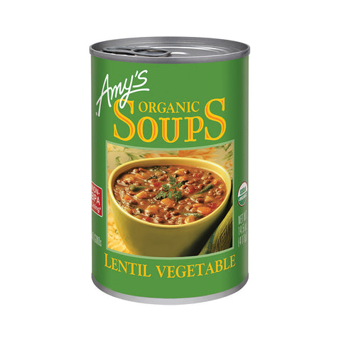 Amy's Kitchen Organic Lentil Vegetable Soup, 14.5 Oz (Pack of 12)