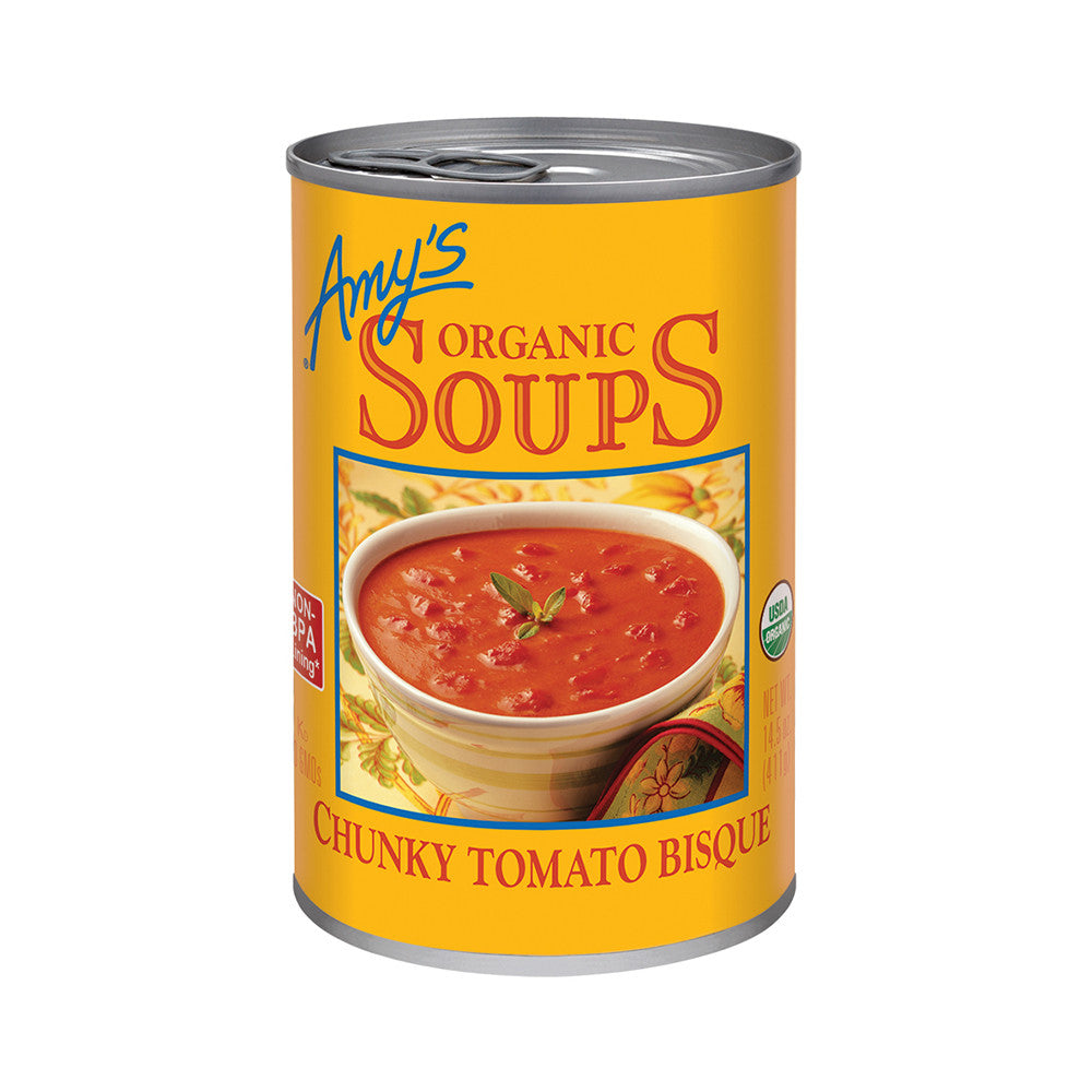Amy's Kitchen Organic Chunky Tomato Bisque, 14.5 Oz (Pack of 12)