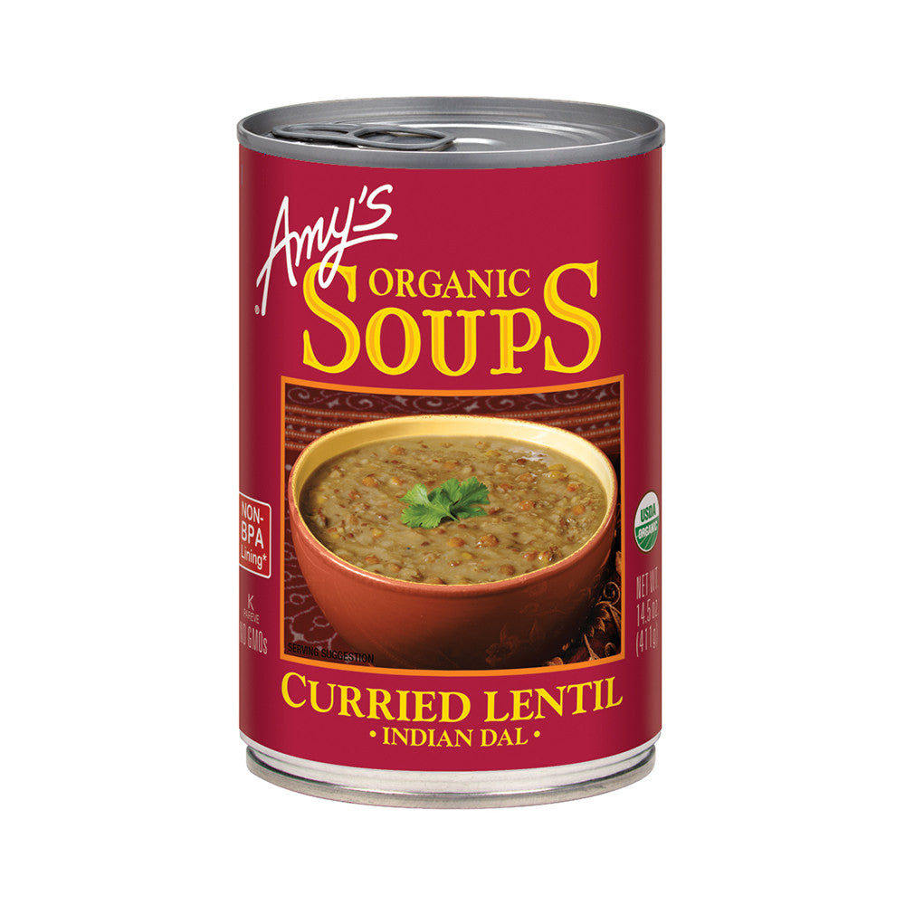 Amy's Kitchen Organic Curried Lentil Soup, 14.5 Oz (Pack of 12)