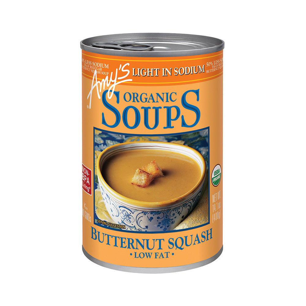 Amy's Kitchen Organic Light in Sodium - Butternut Squash Soup, 14.1 Oz (Pack of 12)