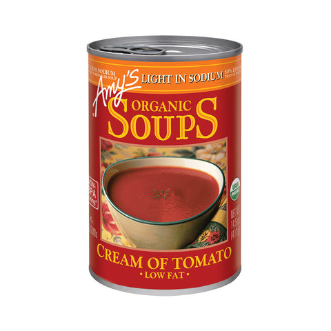 Amy's Kitchen Organic Light in Sodium - Cream of Tomato Soup, 14.5 Oz (Pack of 12)