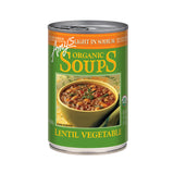 Amy's Kitchen Organic Light in Sodium - Lentil Vegetable Soup, 14.5 Oz (Pack of 12)