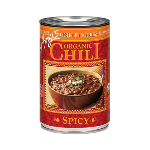 Amy's Kitchen Organic Light in Sodium - Spicy Chili, 14.7 Oz (Pack of 12)