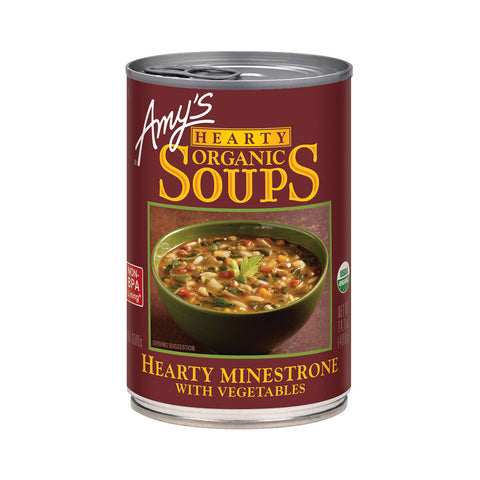 Amy's Kitchen Organic Hearty Minestrone with Vegetables, 14.1 Oz (Pack of 12)