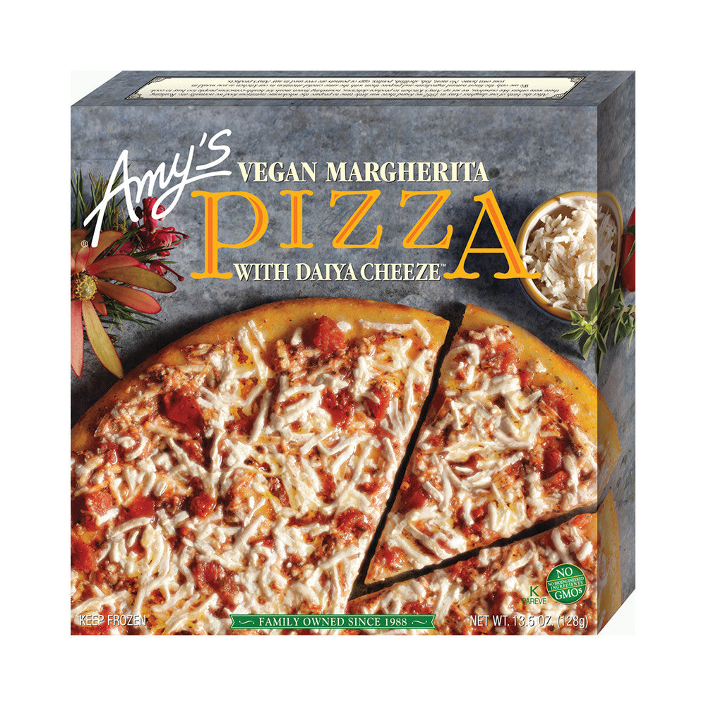 Amy's Kitchen Vegan Margherita Pizza, 13.5 Oz (Pack of 08)
