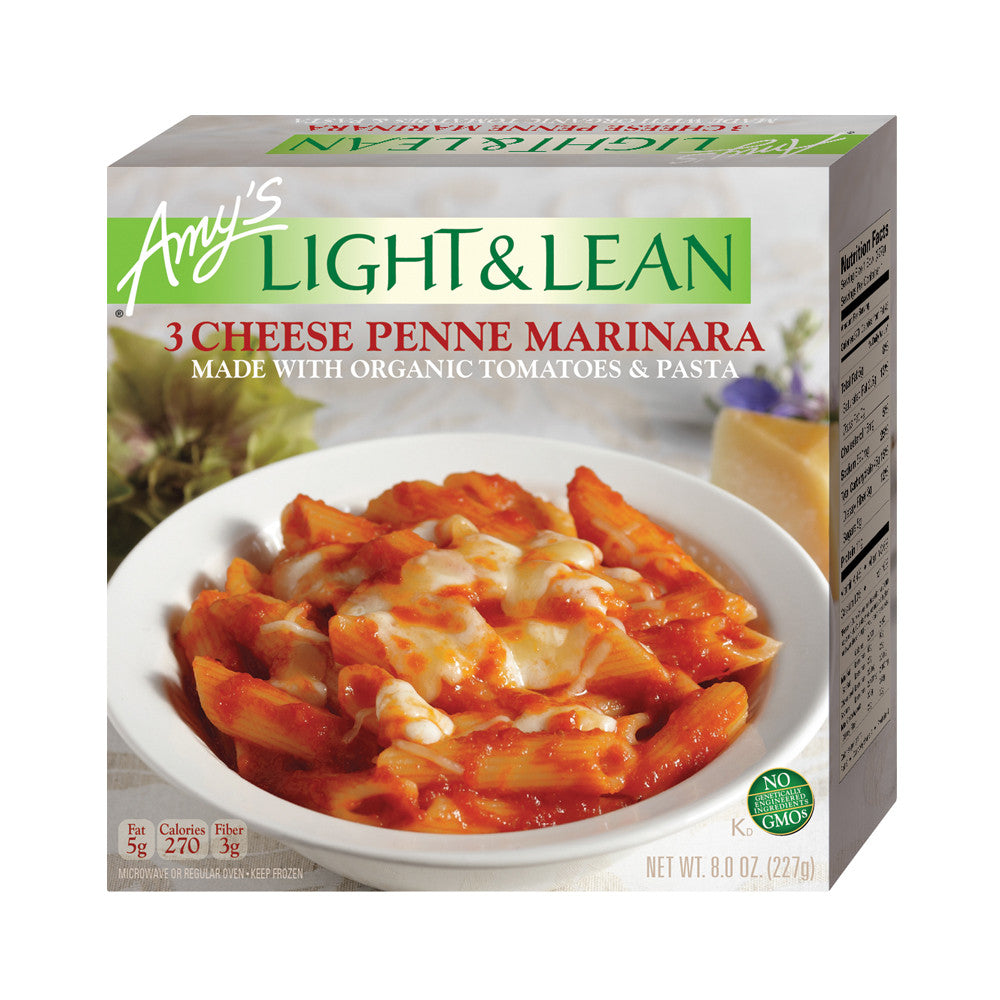 Amy's Kitchen Light & Lean 3 Cheese Penne Bowl, 8 Oz (Pack of 12)