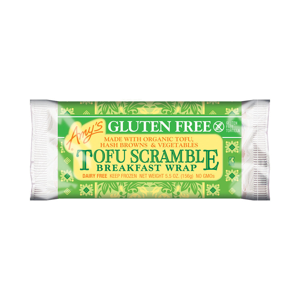 Amy's Kitchen Gluten Free Tofu Scramble Breakfast Wrap, 5.5 Oz (Pack of 12)