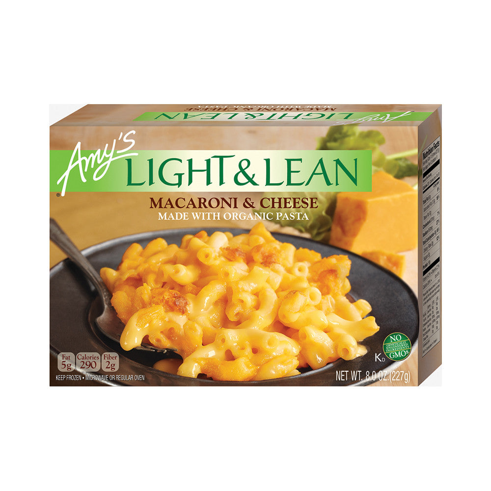 Amy's Kitchen Light & Lean Macaroni & Cheese, 8 Oz (Pack of 12)