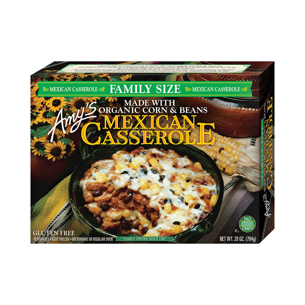 Amy's Kitchen Family Size Mexican Casserole, 28 Oz (Pack of 08)