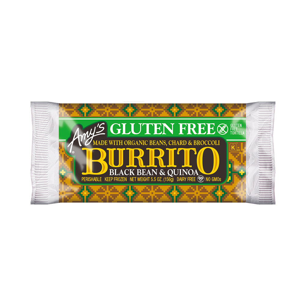 Amy's Kitchen Black Bean & Quinoa Burrito, 5.5 Oz (Pack of 12)
