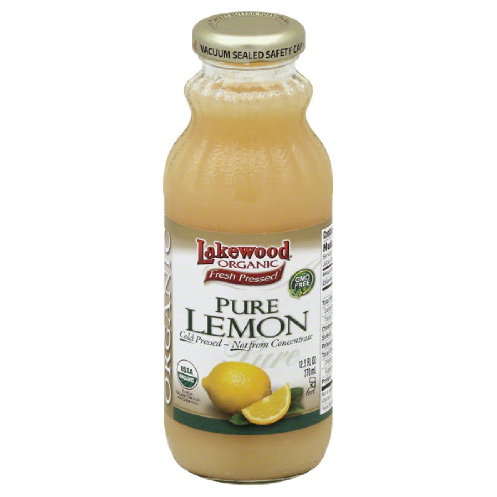 Lakewood Organic Pure Lemon, 12.5 Fo (Pack of 12)