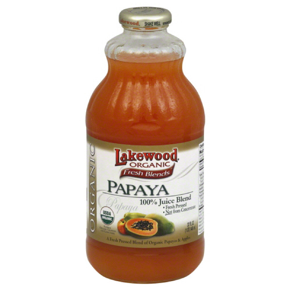 Lakewood Papaya1 Juice Blend, 32 Fo (Pack of 12)