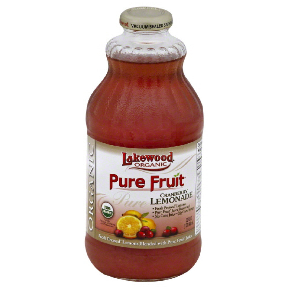 Lakewood Cranberry Lemonade Juice, 32 Fo (Pack of 12)