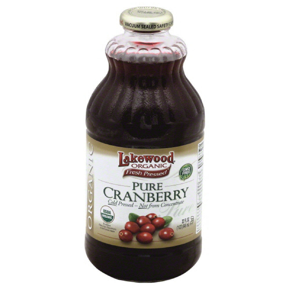 Lakewood Pure Cranberry Organic Juice, 32 Fo (Pack of 6)