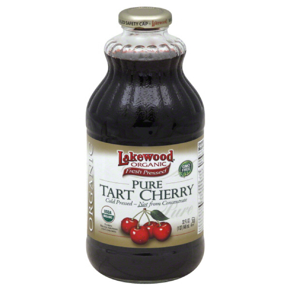 Lakewood Pure Tart Cherry 100% Juice, 32 Fo (Pack of 12)