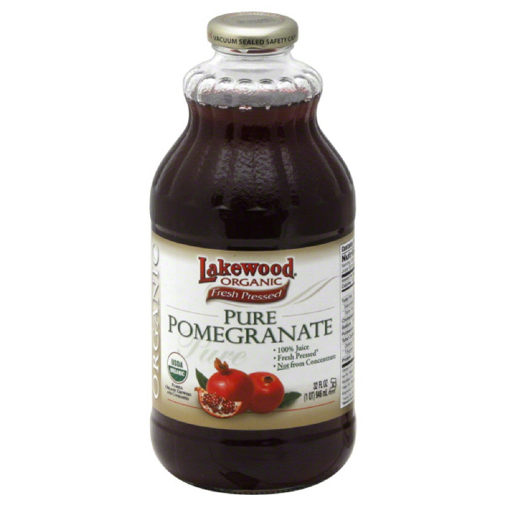 Lakewood Pure Pomegranate 100% Juice, 32 Fo (Pack of 12)