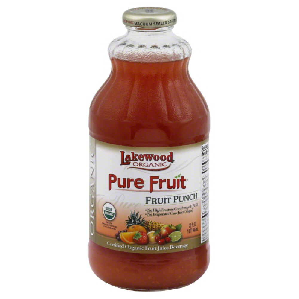 Lakewood Fruit Punch Fruit Juice Beverage, 32 Oz (Pack of 12)