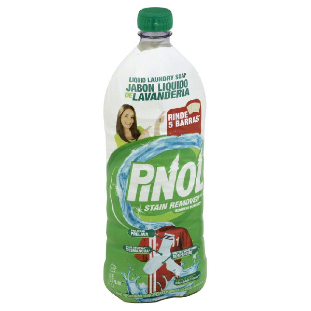 Pinol Stain Remover Liquid Laundry Soap, 33.8 Fo (Pack of 12)