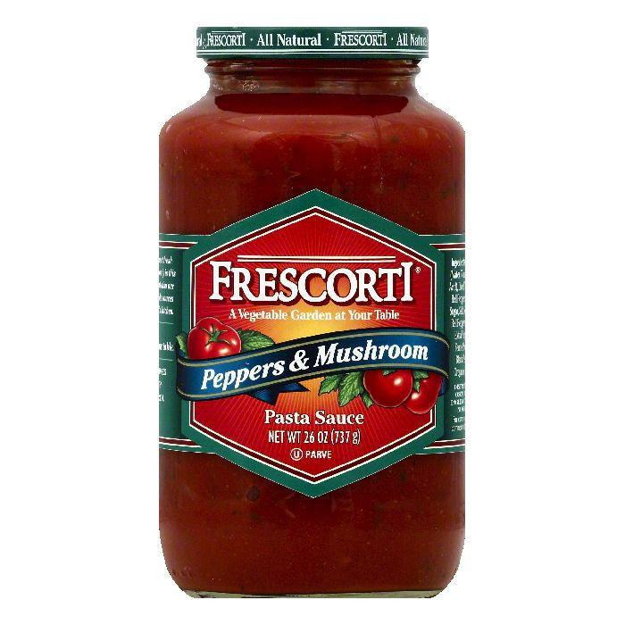 Frescorti Peppers & Mushroom Pasta Sauce, 26 OZ (Pack of 12)