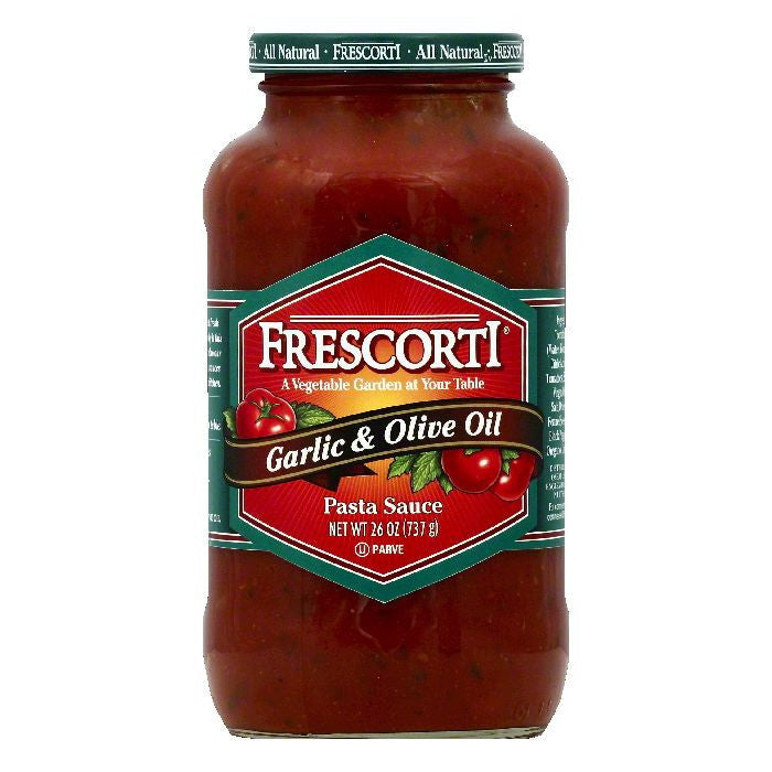 Frescorti Garlic & Olive Oil Pasta Sauce, 26 OZ (Pack of 12)