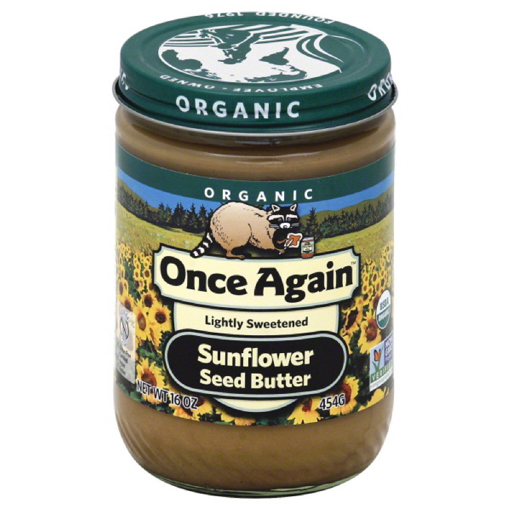 Once Again Organic Sunflower Seed Butter, 16 Oz (Pack of 6)