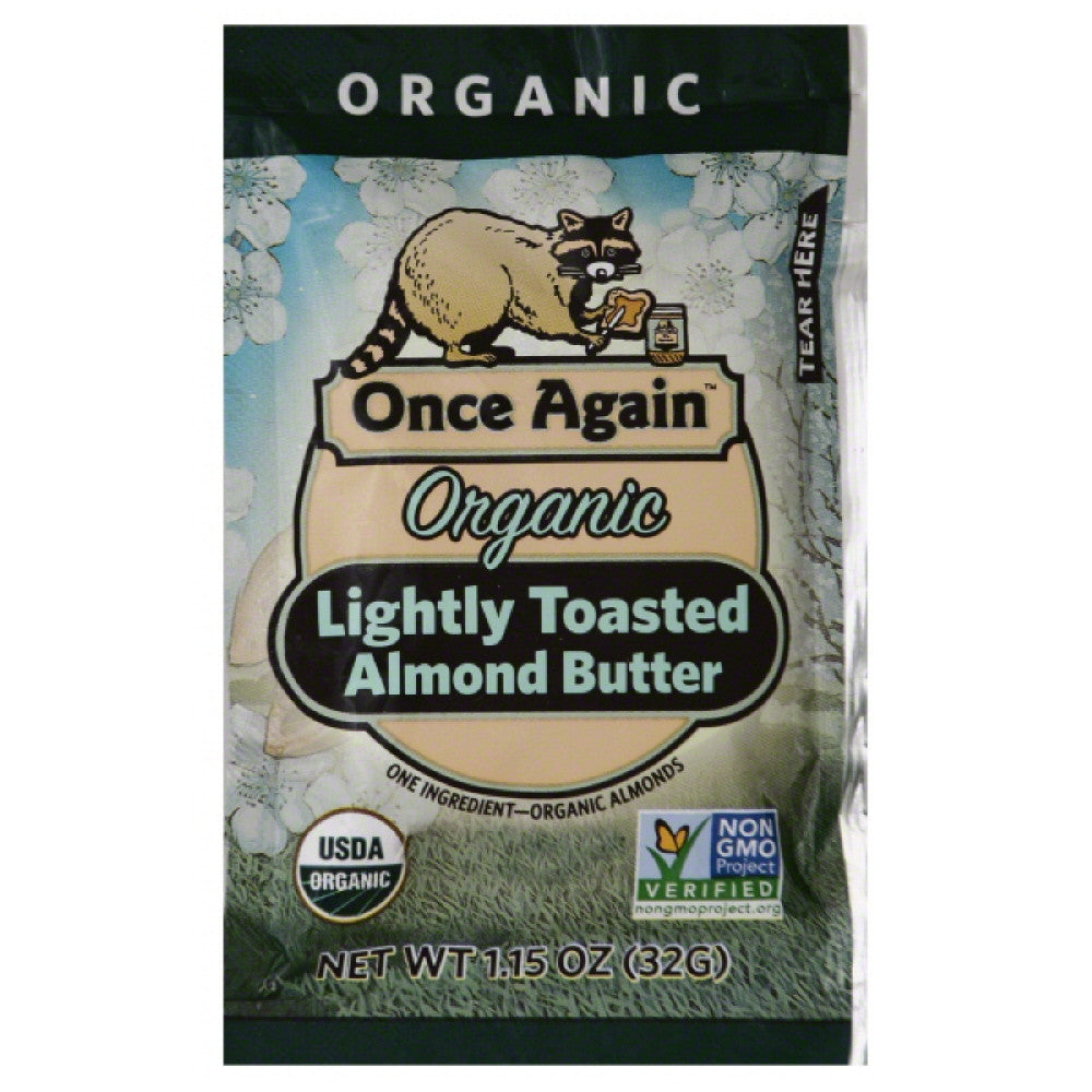 Once Again Lightly Toasted Organic Almond Butter, 1.15 Oz  ( Pack of  10)