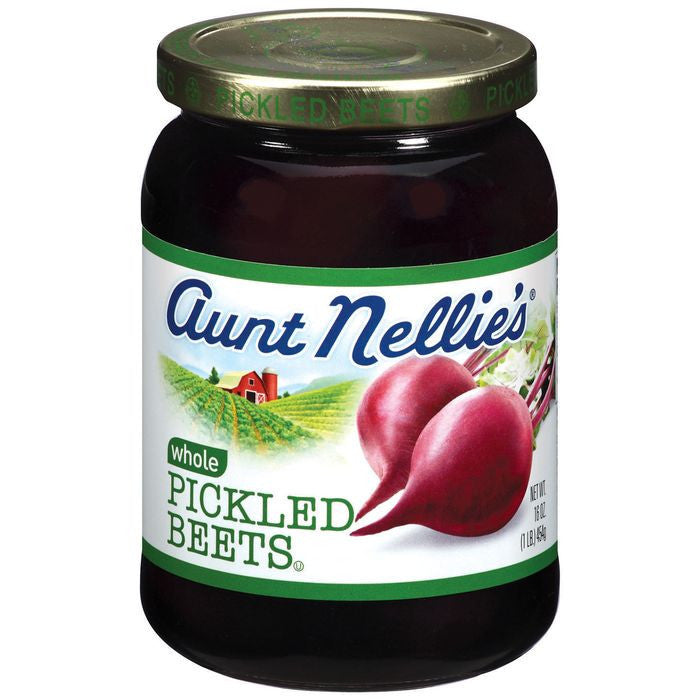 Aunt Nellie's Whole Pickled Beets 16 Oz  (Pack of 12)