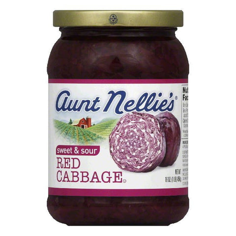 Aunt Nellies Sweet & Sour Red Cabbage, 16 OZ (Pack of 6)