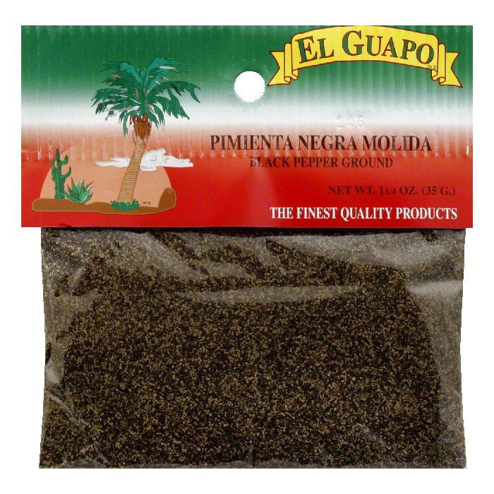 El Guapo Ground Black Pepper, 1.25 Oz (Pack of 12)