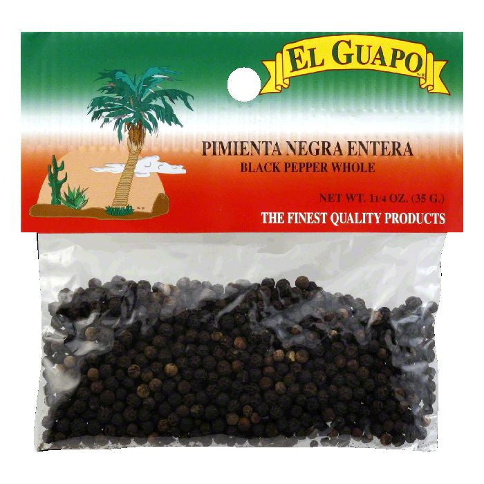 El Guapo Whole Black Pepper, 1.25 Oz (Pack of 12)