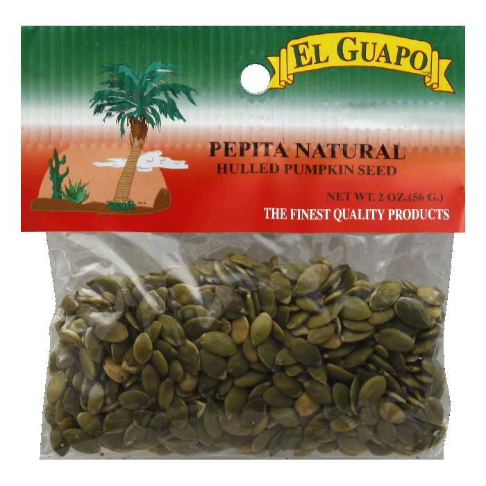 El Guapo Hulled Pumpkin Seeds, 2 Oz (Pack of 12)