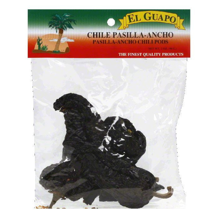 El Guapo Pasilla-Ancho Chili Pods, 2 Oz (Pack of 12)