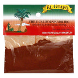 El Guapo Ground California Chili Pepper, 1 Oz (Pack of 12)