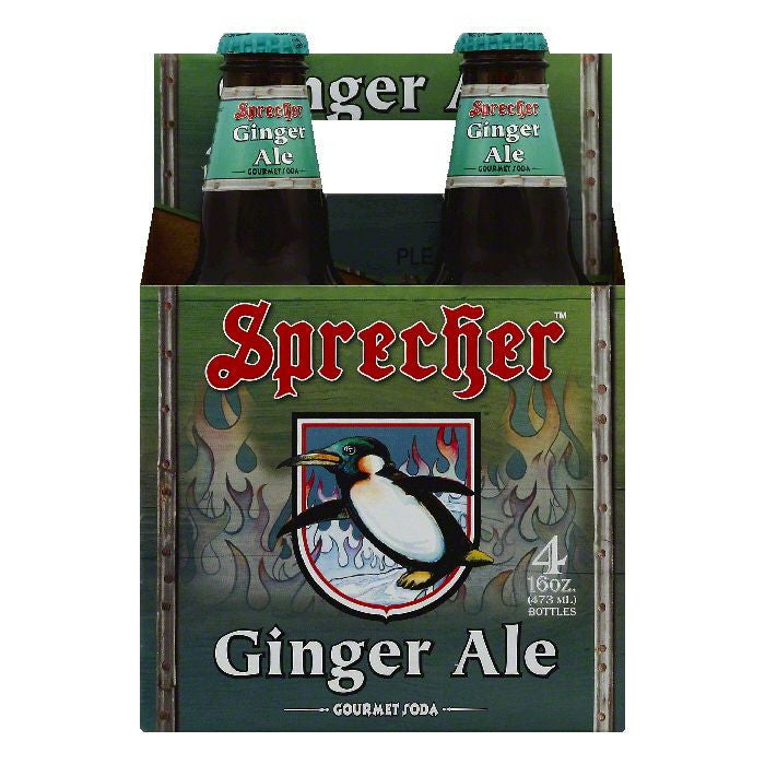 Sprecher Ginger Ale Gourmet Soda, 4 ea (Pack of 6)