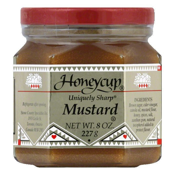 Honeycup Mustard, 8 OZ (Pack of 6)