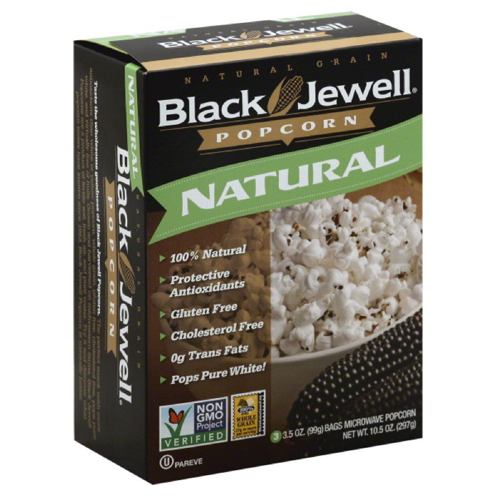 Black Jewell Natural Microwave Popcorn, 10.5 Oz (Pack of 6)