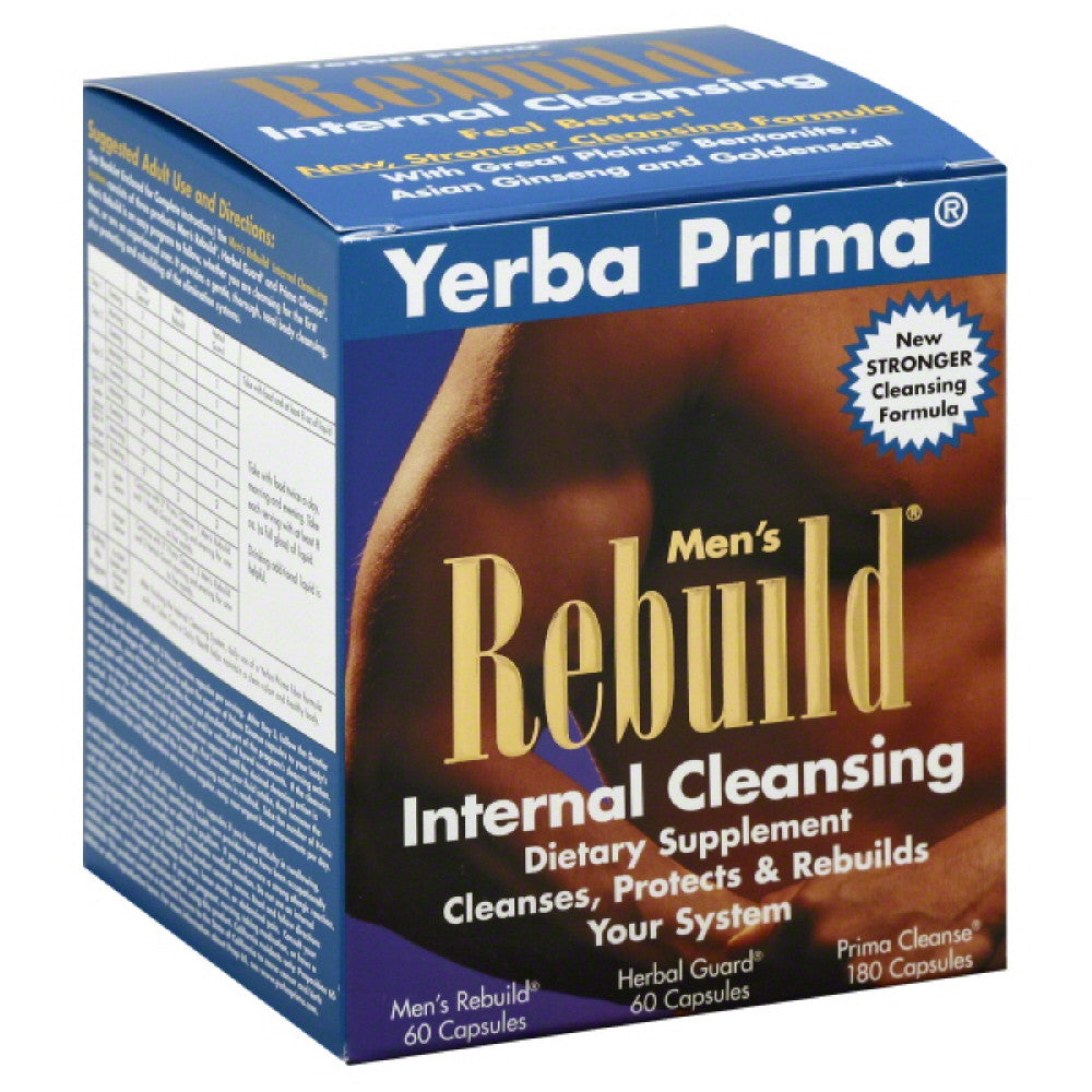 Yerba Prima Internal Cleansing Men's Rebuild Capsules, 1 Kt