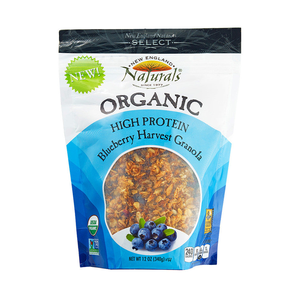 New England Naturals Organic High Protein Blueberry Harvest Organic Granola, 12 OZ (Pack of 6)