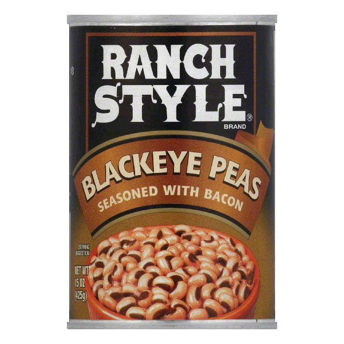 Ranch Style Beans Black Eye with Bacon Beans, 15 OZ (Pack of 12)