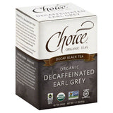 Choice Organic Teas Organic Decaf Earl Grey Black Tea Bags, 16 Bg (Pack of 6)
