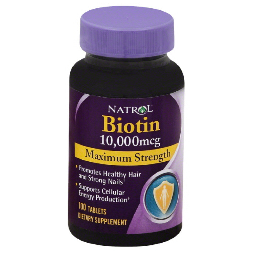 Natrol Maximum Strength000 mcg10 Biotin Tablets, 100 Tb