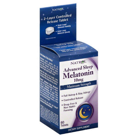 Natrol Advanced Sleep 10 mg Maximum Strength Melatonin Tablets, 60 Tb